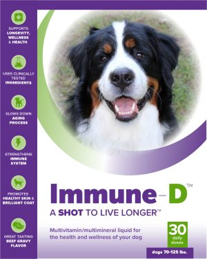Immune-D Liquid Supplement for Dogs 70-125 lbs. (One Month Supply)