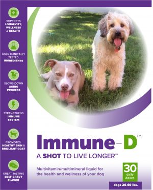Immune-D Liquid Supplement for Dogs 26-69 lbs. (One Month Supply)