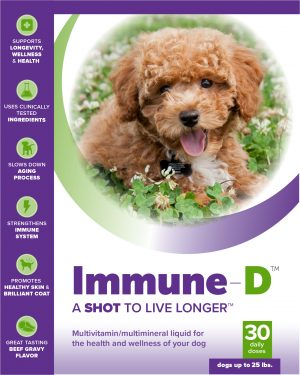 Immune-D Liquid Supplement for Dogs Up To 25 lbs. (One Month Supply)