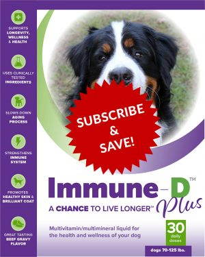 Immune-D Liquid Supplement for Dogs 70-125 lbs. Monthly Subscription