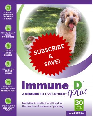 Immune-D Liquid Supplement for Dogs 26-69 lbs.  Monthly Subscription