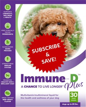 Immune-D Liquid Supplement for Dogs Up To 25 lbs. Monthly Subscription